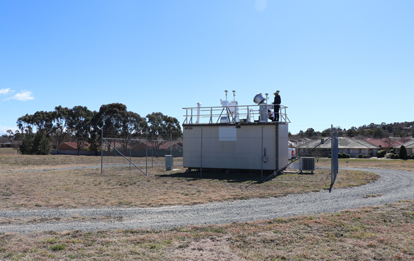 Air quality monitoring stations
