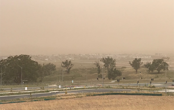 Smoke and dust pollution