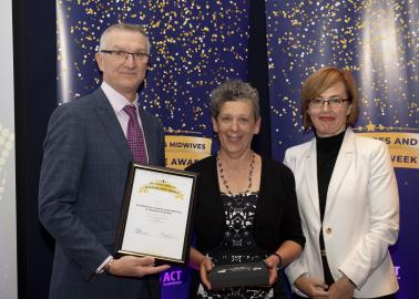 Excellence in Quality Improvement or Research Practice award winner Maureen O'Brien