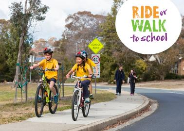 ride or walk to school section banner
